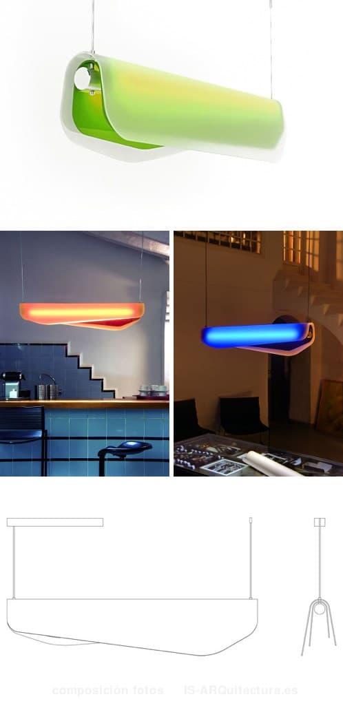 Lampara algae tubo fluorescente y cristal acr lico de color - Lampara tubo fluorescente ...