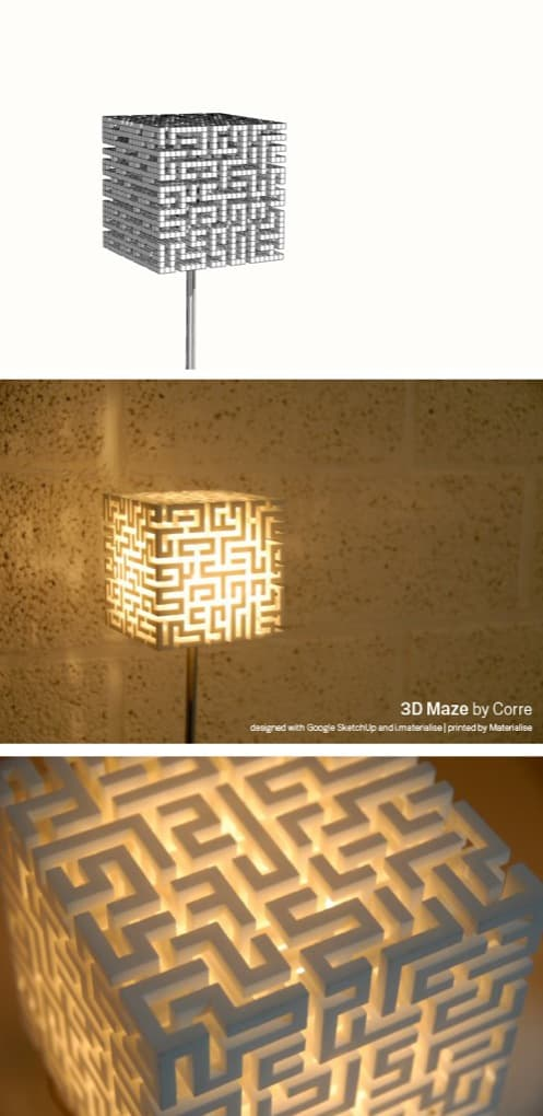 Lámpara 3D Maze