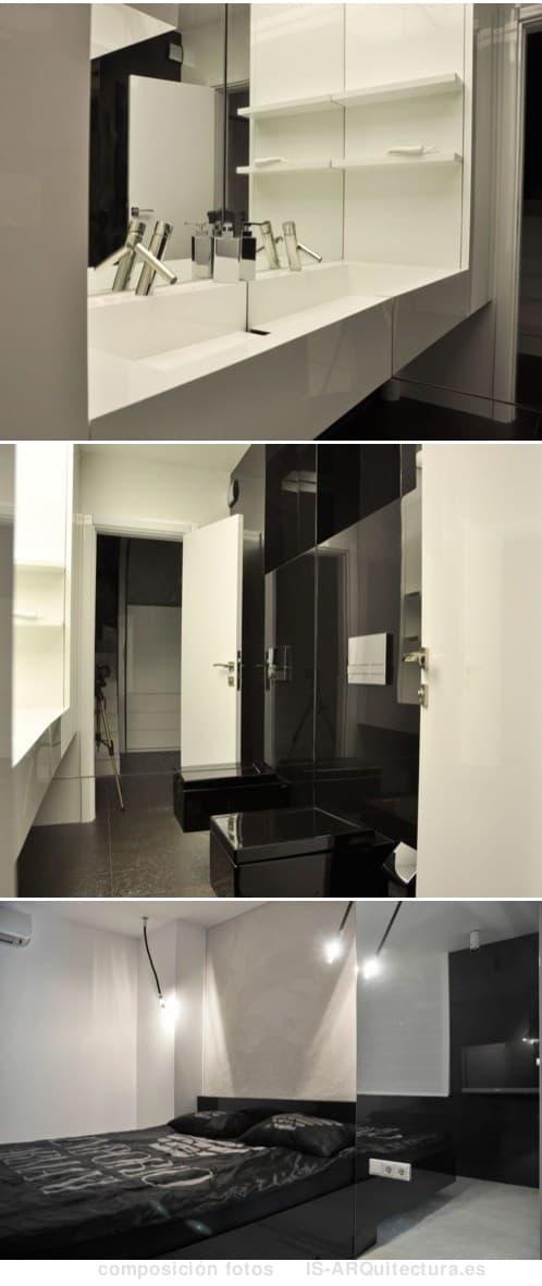 moderno-apartamento-minimalista-dormitorio y aseo