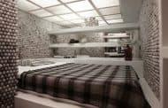 Mini apartamento revestido con 25.000 pelotas de ping-pong