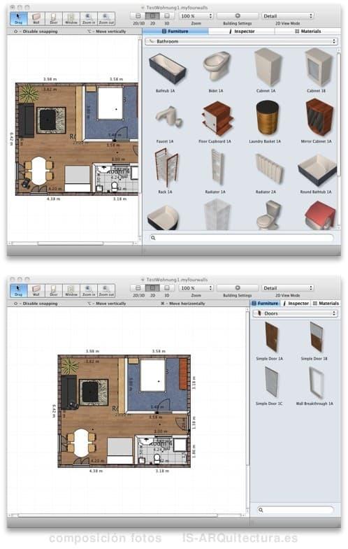 Myfourwalls aplicaci n 3d para decorar la casa for Software decoracion interiores 3d