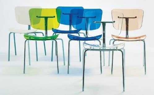 Slide sillas transparentes de policarbonato en varios colores for Sillas cocina transparentes