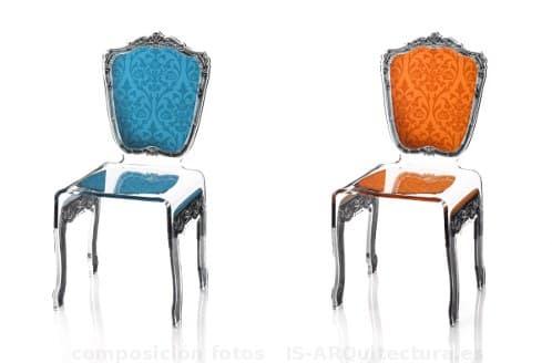 modernas sillas en acr lico con dise o barroco de la