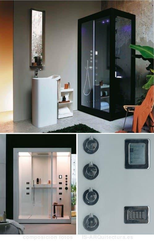 Cabinas De Ducha Kos:Colección AVEC de cabinas de ducha con hidromasaje y música