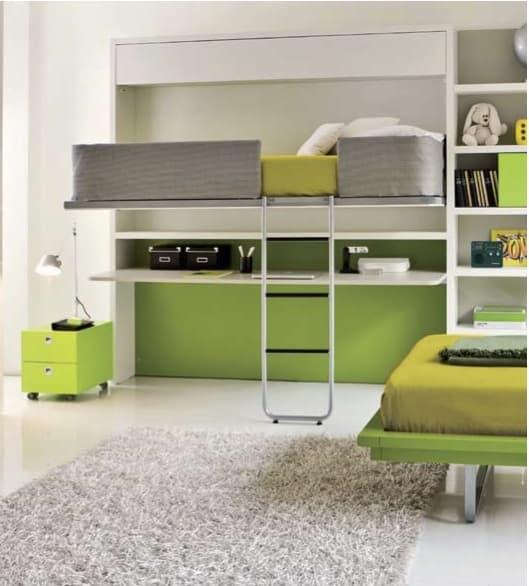 Lollidesk muebles juvenil con cama abatible y escritorio for Cama juvenil con escritorio