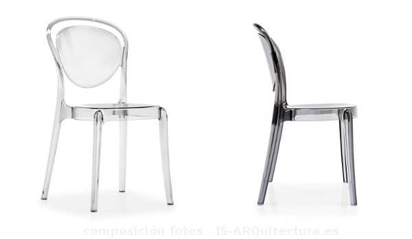 Parisienne silla de policarbonato inspirada en la silla bistrot - Sillas en policarbonato ...