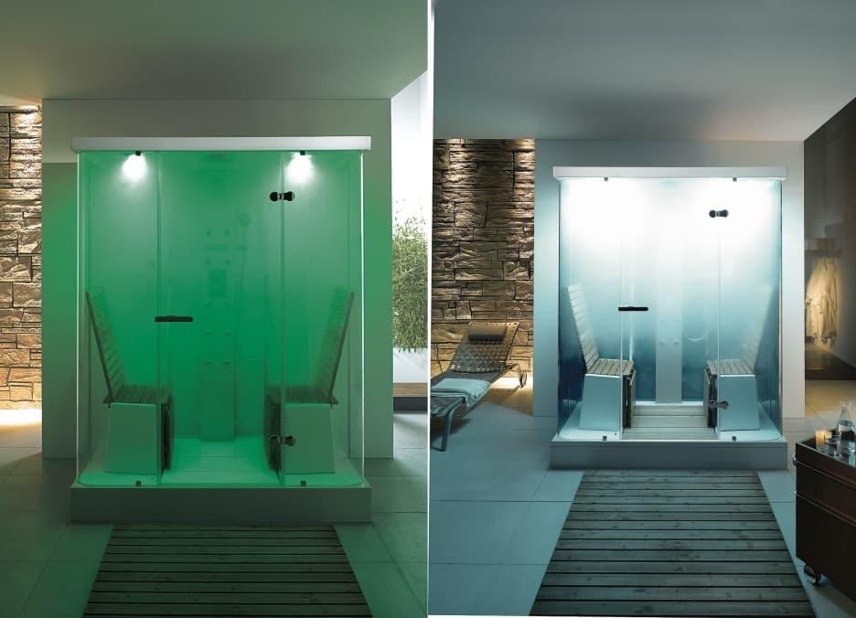 Ducha Con Baño De Vapor:Cabina de DUCHA hidromasaje y baño de vapor