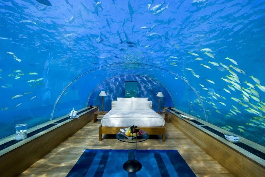 habitaci n de hotel bajo el mar en las maldivas