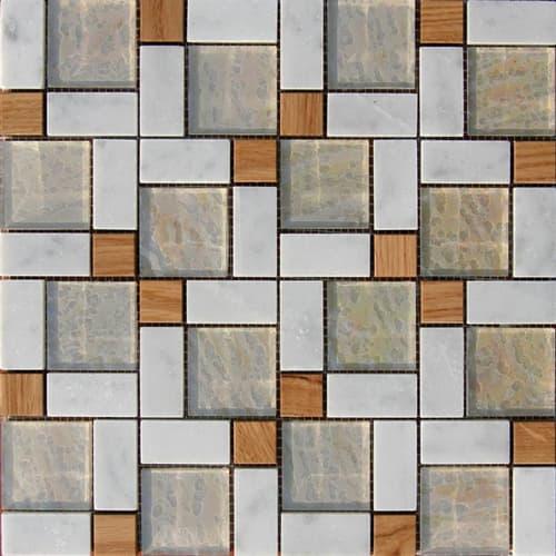 Mosaicos con incrustaciones de madera vidrio metal y piedra - Mosaico de madera ...