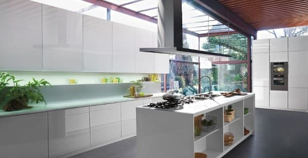 Orange muebles de cocina con acabados en vidrio - Cristal para cocina ...