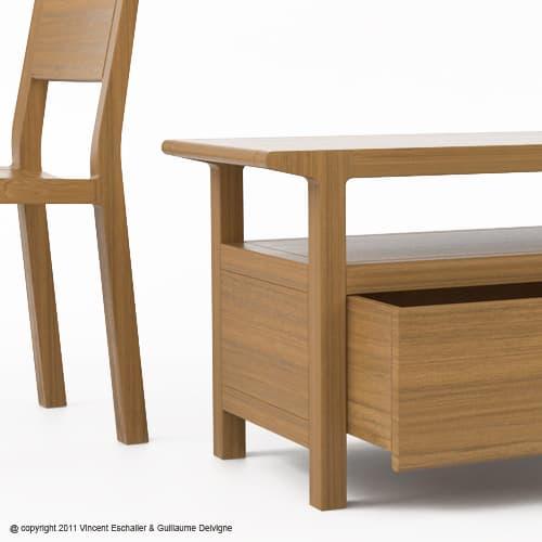 Estos muebles de madera han sido creados por Guillaume Delvigne y