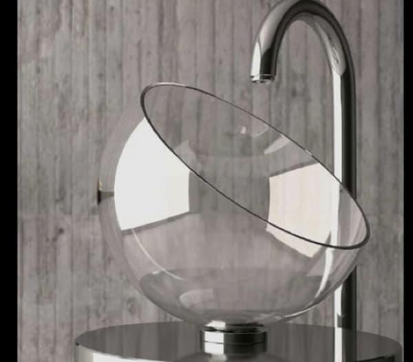 Lavabos Vidrio Para Baño:de lavabos habrá más sencillos que moon que tiene la forma de