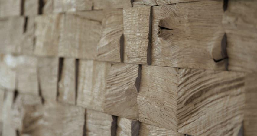 Paneles decorativos de madera en bruto de klaus wangen design for Paneles madera paredes interiores