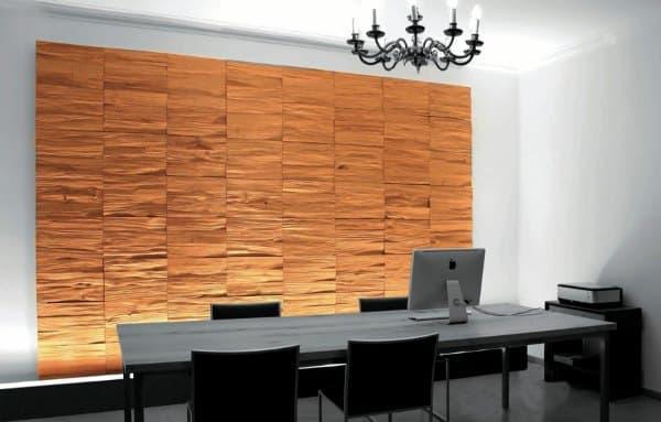 Paneles decorativos de madera en bruto de klaus wangen design - Paneles decorativos bano ...