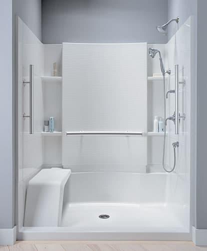 Accord m dulo de ducha con asiento y barras agarraderas for Agarradera para ducha