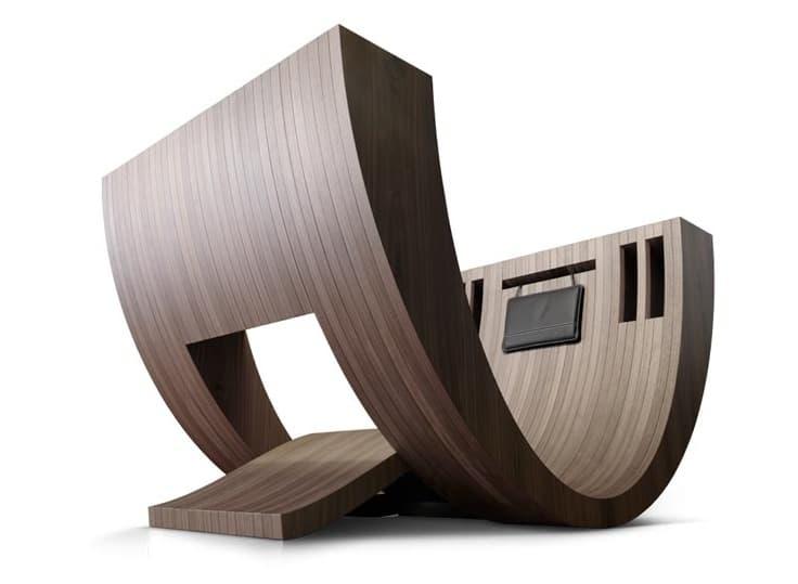 Kosha moderno sill n de madera para la lectura for Sillones de diseno moderno