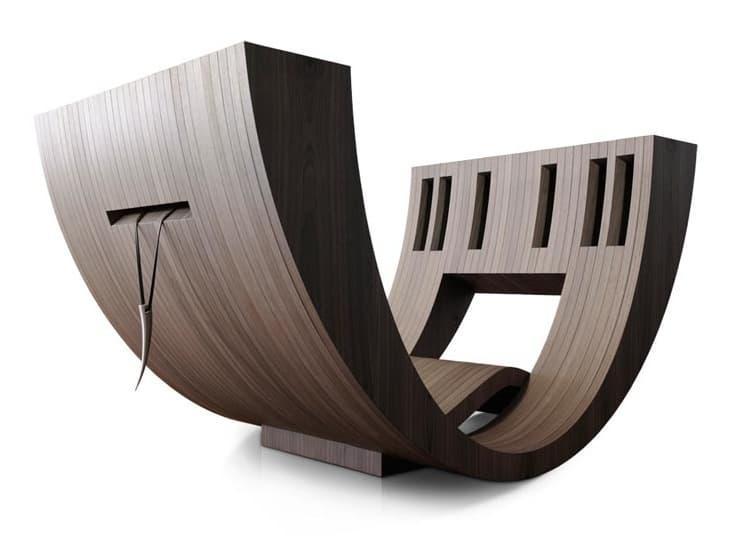 Kosha moderno sill n de madera para la lectura for Lesesessel modern