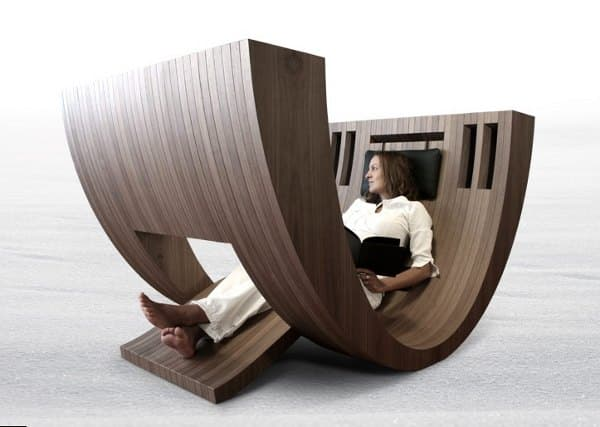 Kosha moderno sill n de madera para la lectura - Sillones para leer ...