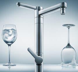 grifo-cocina-con-dispensador-agua-filtrada por filtro de carbono
