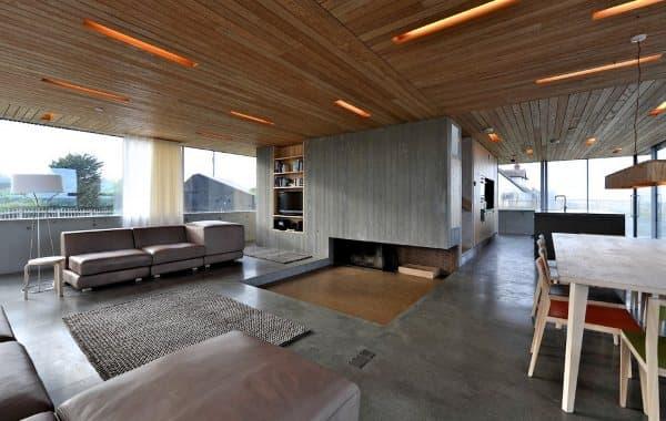 Dune-House-casa-cubiertas-inclinada-vidrio-planta-baja, foto del salón