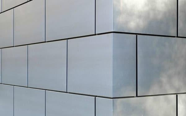 Paneles met licos para revestimiento de fachadas vmzinc for Revestimiento exterior zinc