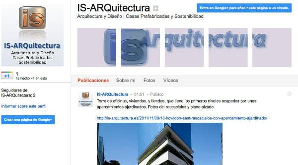IS-ARQuitectura en Google+