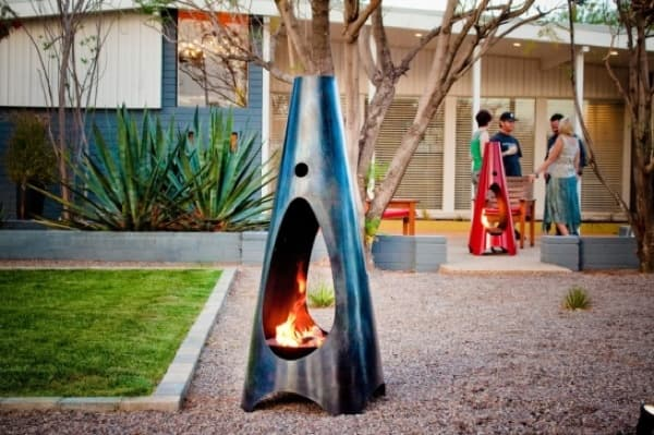 Modfire: chimenea para exteriores