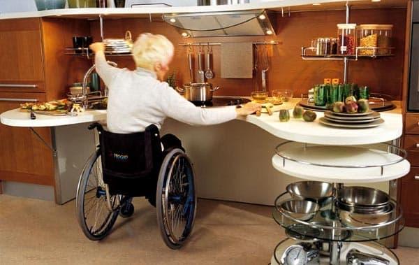 moderna-cocina-para-personas en sillas de ruedas