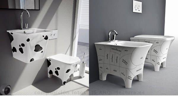 Cow colecci n de sanitarios y lavabos cer micos en for Sanitarios negros