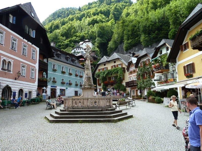vistas-plaza-de-Hallstatt-Austria