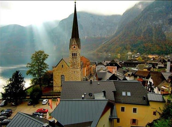 Iglesia-de-Hallstatt-Austria