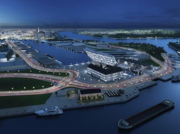 Autoridad-Portuaria-Amberes-vista-aerea-nocturna