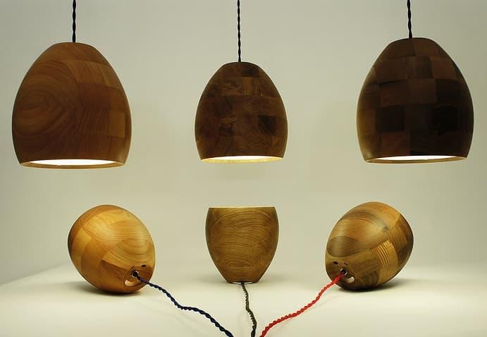 Spotty l mparas de madera hechas a mano - Lamparas de techo hechas en casa ...