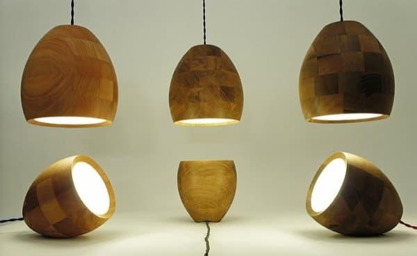 Lamparas de madera imagui - Lamparas de pie artesanales ...