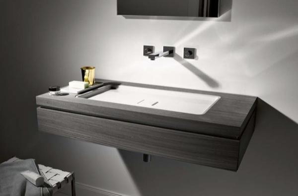 Muebles para el ba o con encimeras de vidrio firma alape - Encimeras de lavabo de resina ...