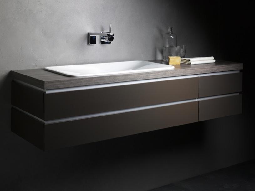 Muebles para el baño con encimeras de VIDRIO  Firma Alape