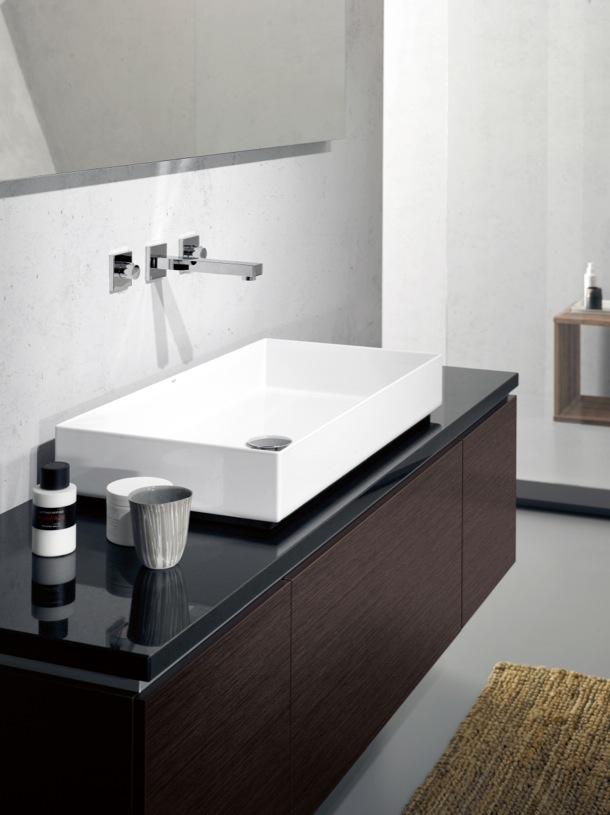 Muebles de ba o para lavabos sobre encimera for Lavabo vidrio