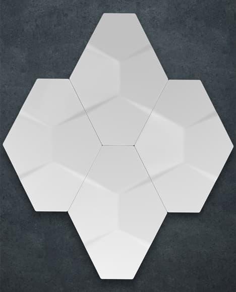Azulejos Baño Relieve:NEXUS: colección de azulejos hexagonales con patrones en RELIEVE