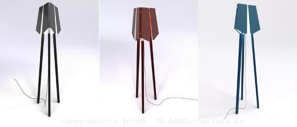 Modernas-lamparas-de-pie-con iluminación LED