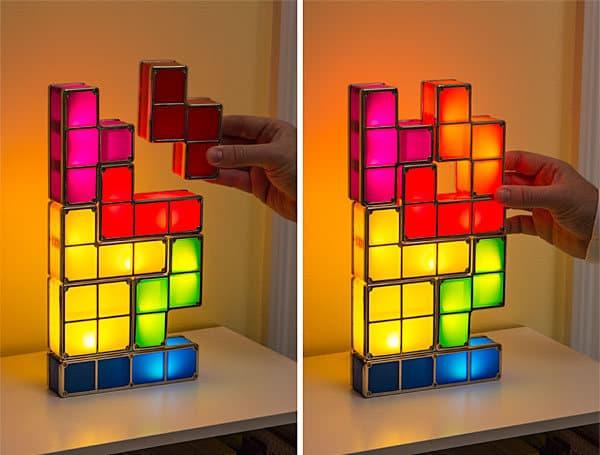 Tetris l mpara de mesa con tecnolog a led inspirada en - Lamparas de mesa originales ...