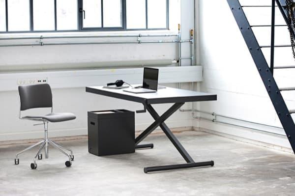 Extractor De Baño Para Que Sirve:XTable: una MESA de escritorio con manivela para regular su altura
