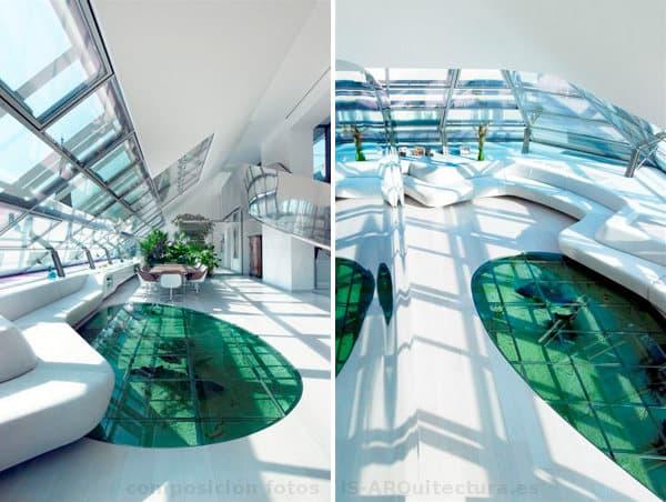 interiorismo-atico-lujo-Viena-acuario-suelo