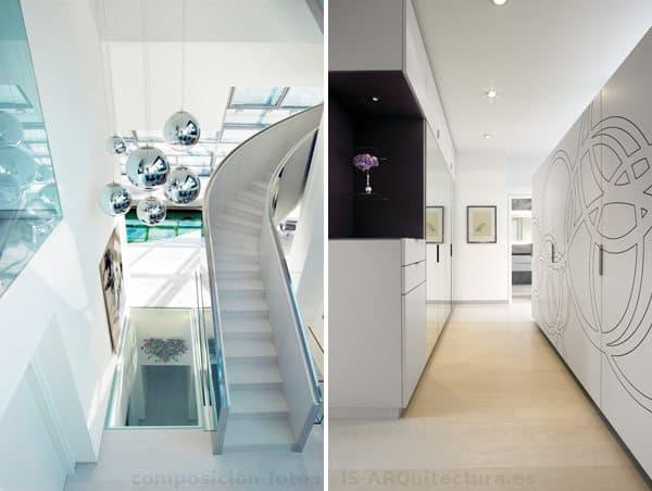 interiorismo-atico-lujo-Viena-vestibulo