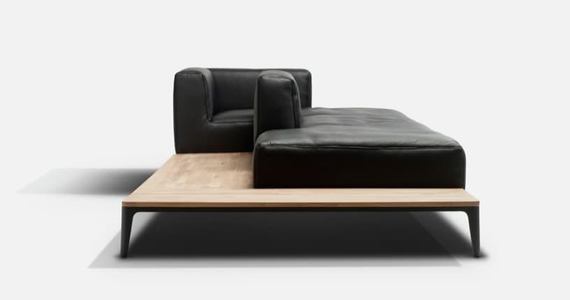Tailor made un moderno sof modular en piel o tela for Sofa modular tela