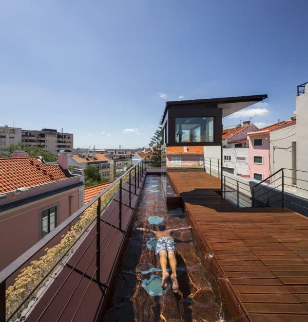 jardim vertical lapa:El proyecto de esta vivienda con jardines verticales ha sido