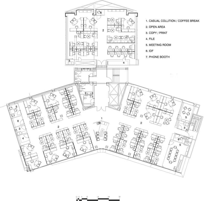 Decoraci n e interiorismo oficinas basf en ciudad de m xico for Oficinas planta arquitectonica