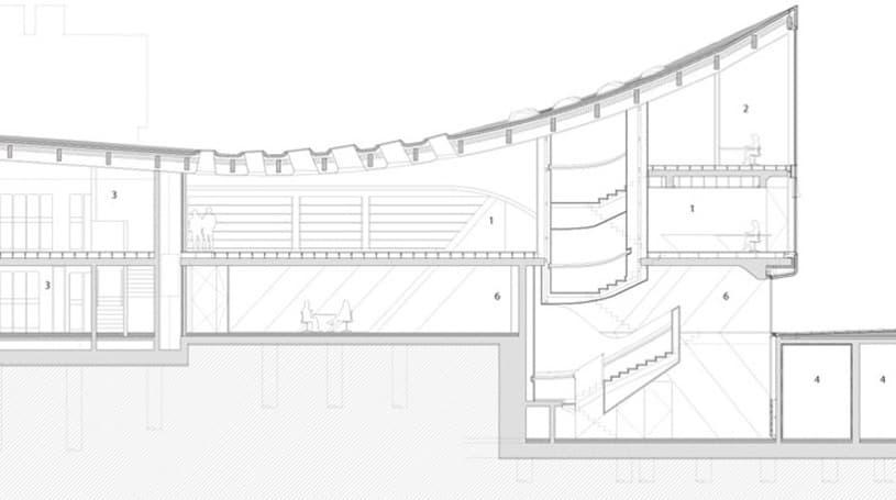 Biblioteca en la universidad de oxford de zaha hadid for Planos de bibliotecas