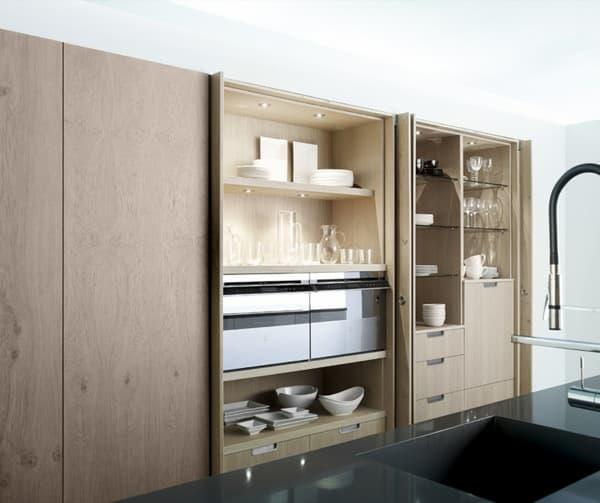 Aero glass cocinas con grandes armarios que lo ocultan todo - Armarios de cocina ...