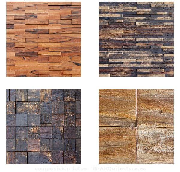 Fusi n colecci n de paneles de madera para la decoraci n - Decoracion de paredes en madera ...