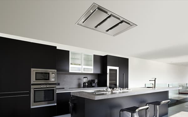 Inart campanas de cocina empotradas en falso techo - Altura campana cocina ...